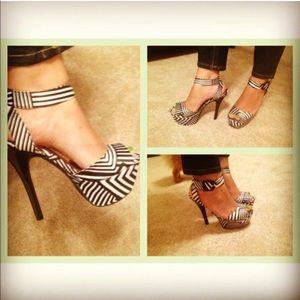 Black & White Platform Heels